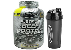 100% Platinum Beef Protein (4.2 Pounds) with Shaker