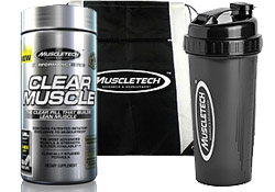 Clear Muscle (168 Capsules) With Slingbag and Shaker